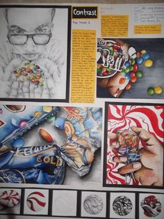 Image result for gcse food art project