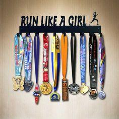 Run Like A Girl 10 Hk Running Medal Holder by by SportHooks