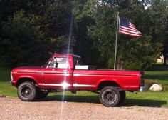 1973 Highboy with 390 4 speed Old Ford Pickup Truck, Old Ford Pickups, Ford Pickup Trucks, Classic Ford Trucks, Old Fords, Cool Trucks, Vintage Cars, Cogs, Vehicles