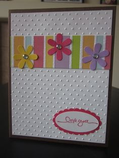 I Love You Bright and Cheerful Glitter Card by thepaperdivamum