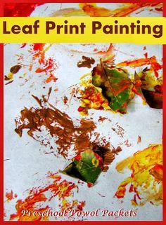 Leaf Print Paintings: easy & fun!!   #preschoolactivities