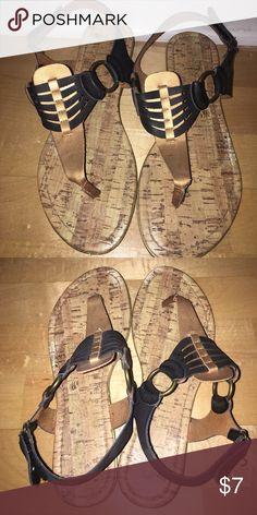 Black and gold sandals! Black and gold sandals! Great condition! Shoes Sandals