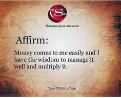 Positive Affirmations Quotes, Wealth Affirmations, Affirmation Quotes, Affirmation Of The Day, Morning Affirmations, Manifestation Law Of Attraction, Law Of Attraction Affirmations, Law Of Attraction Quotes, Secret Law Of Attraction