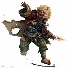 Halfling Bard - Pathfinder RPG PFRPG DND D&D d20 fantasy