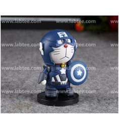 http://www.labtee.com/Doraemon-COS-Captain-America-Base-Garage-Kits-Decoration