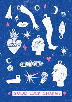 Risograph Postcards - Louise Lockhart
