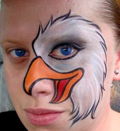 Eagle  (Face Painting) by Catherine Pannulla