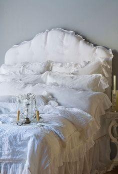 Bella Notte Whisper Linen Duvet Cover in White