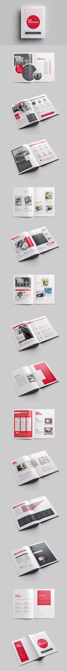 Proposal Template INDD Proposal Brochure Templates Pinterest - marriage proposal template