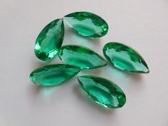 AAA Quality 6 pieces Set Emerald Green Quartz cut gemstone in a Size of  10x20mm,Superb rare item. by Gemstonebeadsfinding on Etsy