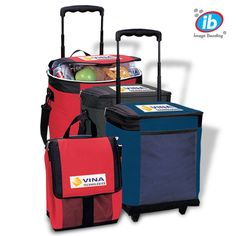 LT-3273 Ice® 30-Can Roller Cooler. Folds down flat with Coolflex® strap. Double, leak-proof lining. Adjustable and detachable shoulder strap, telescopic handle and durable roller wheels. Lifetime guarantee.