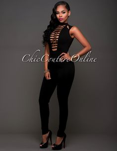 Chic Couture Online - Tabou Black Gold Cut-Out Front Jumpsuit.(http://www.chiccoutureonline.com/tabou-black-gold-cut-out-front-jumpsuit/)