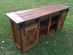 This gorgeous Tv Console is a custom handmade piece of furniture perfect for your living room or tv room. Its rustic charm is sure to be the talking point of all your visitors. The unit pictured is sold and yours will be built for you as close to this as possible. You have the option to change the stain color but this English Chestnut on the pine looks so gorgeous and rustic its hard to pass up.  Dimensions: Length of the Top is 78 wide Cabinet is 72 wide Height is 33 Depth is 16 Both…