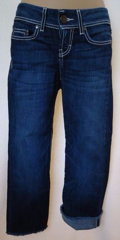 BKE Buckle 24 Denim Capris Jeans Addison Thick Stitch Cropped #BKE #CapriCropped #Everyday