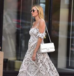 Pin for Later: Candice Swanepoel Just Won Summer Maternity Style in This Maxi Dress