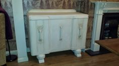 Painted antique sideboard with Annie Sloan paint and dark wax