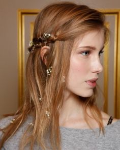 4 Flower-Filled Wedding Hairstyles From the Bridal Shows: Braided Blossoms