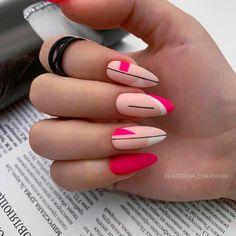Nail Art Designs, Square Nail Designs, Nail Polish Designs, Nails Design, Short Square Acrylic Nails, Short Square Nails, Best Acrylic Nails, Pink Nail Art, Pink Nails