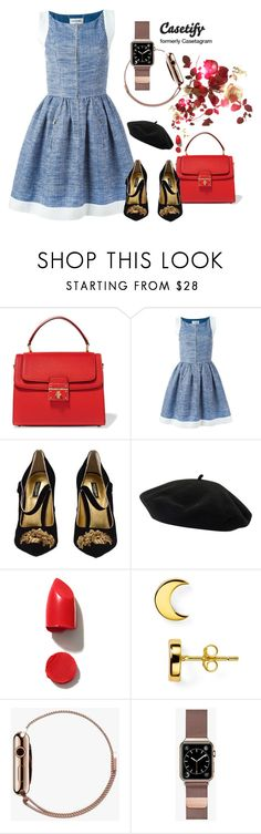 """""""Roses"""" by gabyidc ❤ liked on Polyvore featuring Dolce&Gabbana, Chanel, Goorin, NARS Cosmetics, Argento Vivo, Casetify and Shashi"""