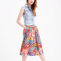Circle skirt in geo brushstroke