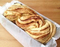 Post: Pan dulce – trenza de canela --> brioche, hacer pan en casa, Pan – trenza de canela, pan casero con topping, pan dulce casero, pan dulce rápido, postres delikatissen, recetas delikatissen, rollos de canela