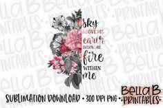 Floral Sublimation Design, Half Flower Sublimation, Boho Bella B Studio Crafters Sublimation