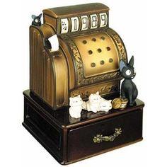 "the saving box of ""Kiki's Delivery Service"" 魔女の宅急便 オルゴール ジジのお店ばん"