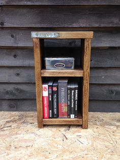 Reclaimed wood small shelving unit / bedside table