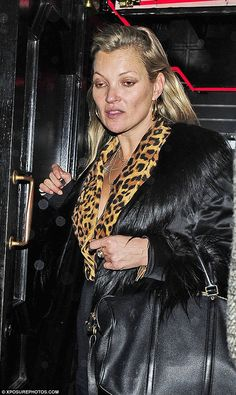 Party girl: Kate Moss proved she was still up to her usual tricks in the early hours of Friday morning, as she was seen heading home from dinner looking somewhat worse for wear