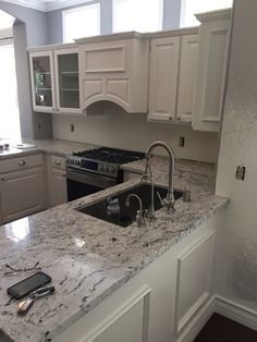 Kitchen Countertops Out Of White Ibis Granite