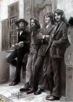 The Beatles Portrait Hand Drawing by Artist Haiyan by poppicture, $69.99