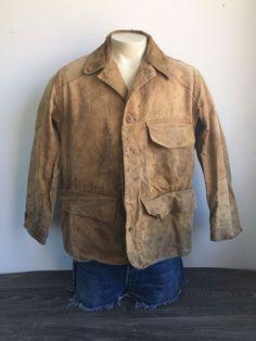 f7e68811ae407 Duxbak Jacket Vintage 30s Front Load Game Pocket Duck Cotton Hunting USA  Mens 42 #Duxbak