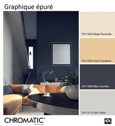 Les tons naturels et doux de la palette rafraîchissent le Bleu Corinthe CH1 0835 intense et profond! www.chromaticstore.com