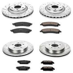 Powerstop 4-wheel Set Brake Disc And Pad Kits Front & Rear Cadillac K2875 #car #truck #parts #brakes #brake #discs, #rotors #hardware #k2875
