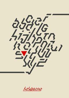 """E.8 - Alfabeto """"Hexagone"""""""