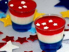 THE ANTHEM JELLO SHOT - A party without a jello shot is like a sporting event without the national anthem!  Make everyone's day and fulfill your patriotic spirit by including this patriotic jello shot.  With a great blend of berry and sweet flavors, it's bound to make a few highlight reels!