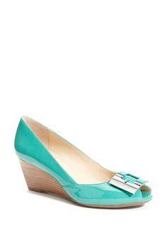 very cute Calvin Klein wedge. love that color