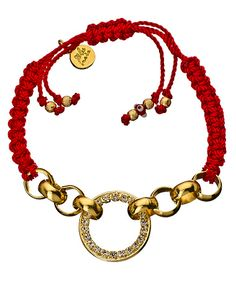 I prefer silver but there is something about a red & gold combo..  Imagine layering these in different colours :)