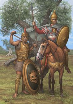 Late Hellenic hoplite and cavalryman. The Greeks of the 3rd and 2nd century found themselves employed in great numbers at the bequest of foreign kingdoms and states. Carthage, Ptolemaic Egypt and The Greek colonies in Italy all employed these excellent warriors.