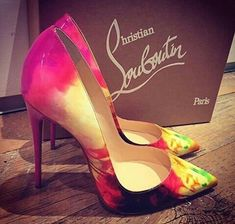 beautiful floral christian louboutin 'so kate 120' pumps. #shoeporn