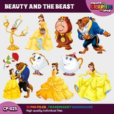 Beauty And The Beast Clipart Bella Instant Download Png Printable CP 025