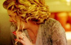 Could Lily Rabe's hair be any more fabulous? Apparently, death does wonders for your hair.