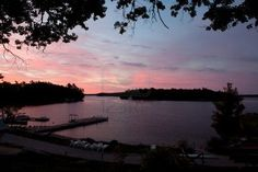 Muskoka Ontario, Canada -   Dawn on Lake Rosseau, near Windermere - in the Muskoka region of Ontario.