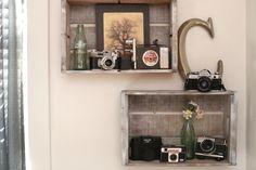 diy   bedroom shelves