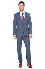 'Huge/Genius' | Slim Fit, Super 100 Virgin Wool Pinstripe Suit #bossblack
