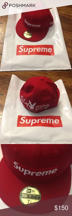 details supreme supreme playboy box logo new era supreme