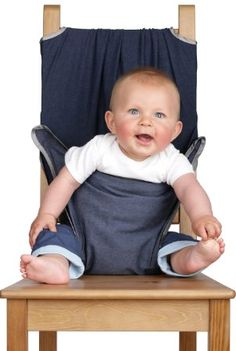 TOTSEAT Chaise Nomade pour Bébé Motif Silver Bound Denim Bleu