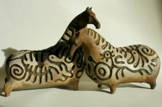 ceramic horses by Ilona Jo