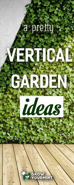 Ideas for a pretty vertical garden #garden #gardening #growyourmint