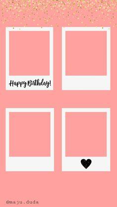 Happy Birthday Template, Happy Birthday Frame, Happy Birthday Posters, Happy Birthday Wallpaper, Birthday Frames, Love Birthday Quotes, Happy Birthday Quotes For Friends, Birthday Posts, Instagram Emoji
